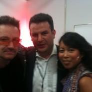 Hallo mit Bono +  Hubertus Heil